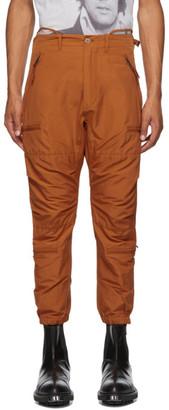 R 13 Orange Military Cargo Pants