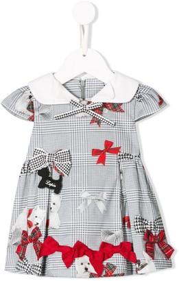 Lapin House Tartan Bow Mini Dress