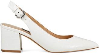 White Block Heel Pump | Shop the world