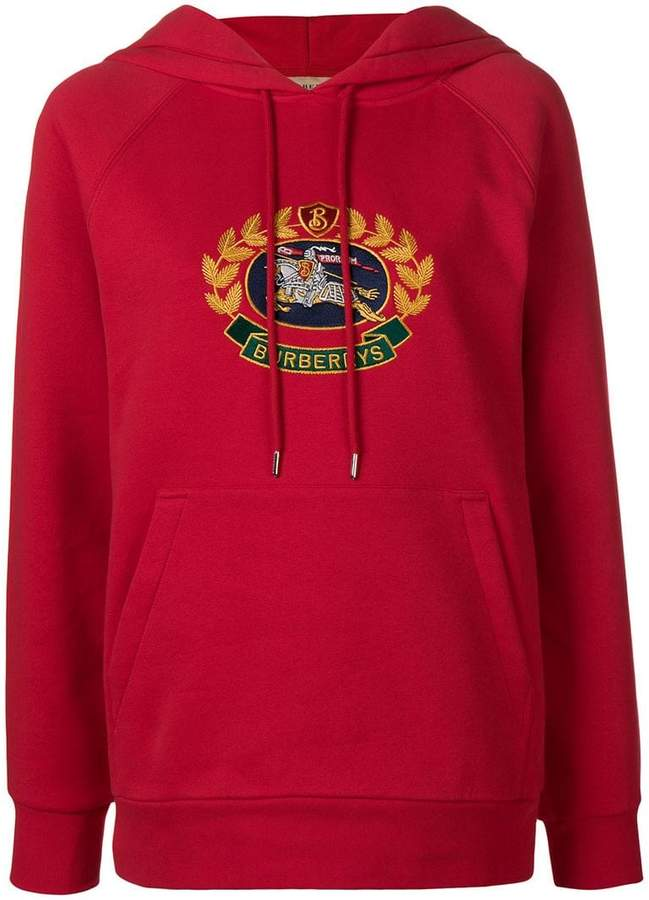Burberry Embroidered Archive Logo Oversized Hoodie