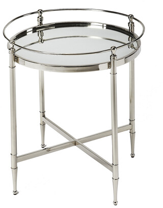 Butler Crosby Metal & Mirror End Table