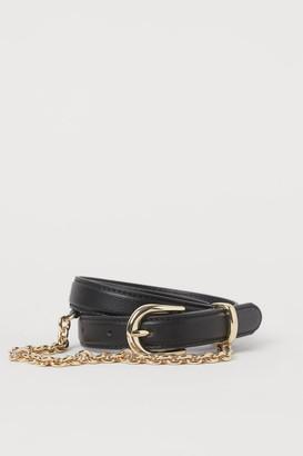 H&M Chain-detail Waist Belt - Black