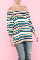 Do & Be Multi Color Off The Shoulder Top