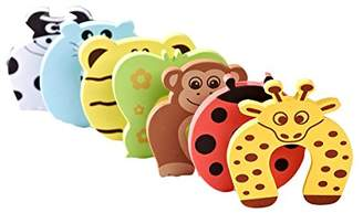 Equipment AKORD Baby Safety Foam Door Stoppers, Animal Design, Pack of 6
