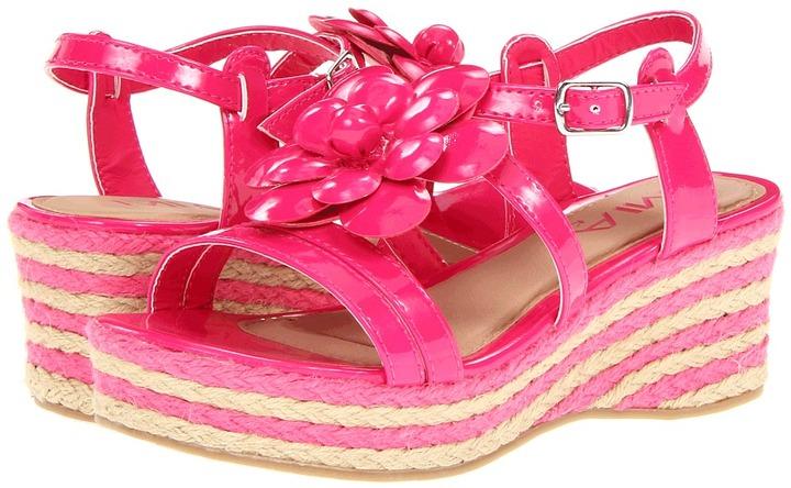 Mia Sadie (Little Kid/Big Kid) (Fuchsia Patent) - Footwear