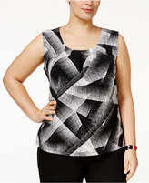 Kasper Plus Size Graphic-Print Top