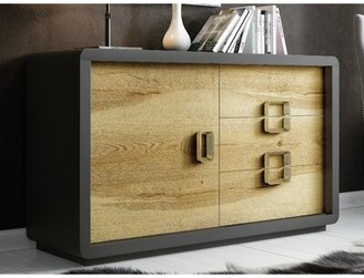Hispania Home 2 Drawer Nightstand In Natural Oak Color High Gloss Shopstyle