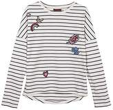 Catimini Girl's TS ML Raye T-Shirt,(Manufacturer Size: 4A)