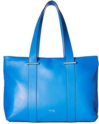 Lipault Paris By The Seine Large Tote Bag (Cobalt Blue) Tote Handbags