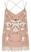 River Island Womens Pink oriental embellished cami top