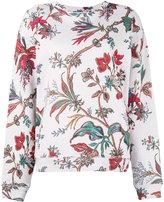 Alexander McQueen floral print sweatshirt - women - cotton - S