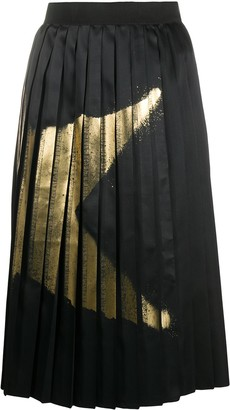 Golden Goose Riley star-print pleated skirt