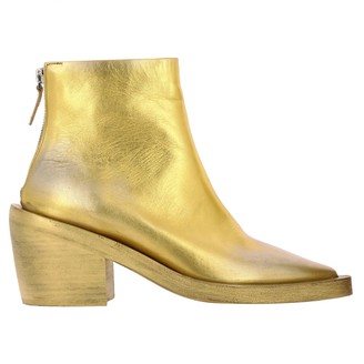 Marsèll Coneros Ankle Boots In Laminated Leather With Zip