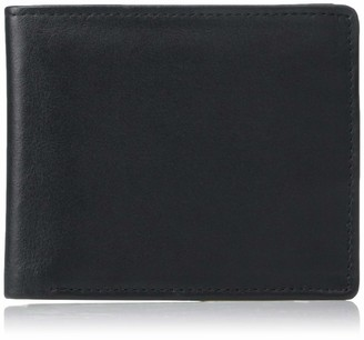 Royce Leather Men's Bifold Wallet in Leather with Double Id Flap