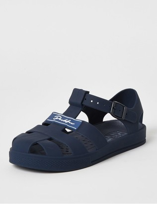 River Island Boys Prolific Jelly Sandals-Navy