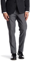 Bonobos Foundation Grey Tweed Trim Fit Double-Pleated Cotton Trouser - 30-32 Inseam