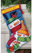 "Dimensions Snowman and Bear 16"" Stocking Needlepoint Kit"