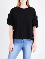 Sjyp Frilled cotton top