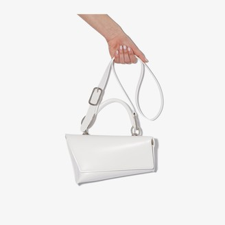 Venczel white VX leather shoulder bag