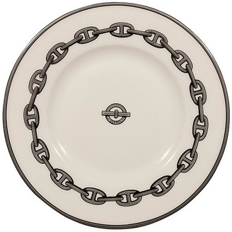 One Kings Lane Vintage Hermes Chaine d'Ancre Tray - The Montecito Collection - white/silver