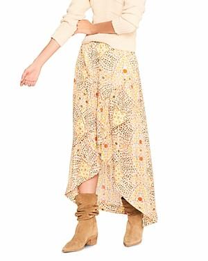 BA&SH ba & sh Hall Floral Print High/Low Skirt