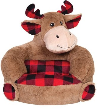 Trend Lab Children's Plush Buffalo Check Moose Character Chair