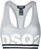 DSQUARED2 logo sports bra