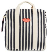Clare Vivier Simon Stripe Backpack - Blue