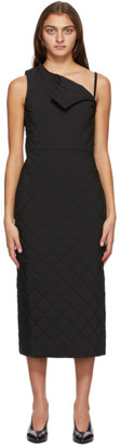 Markoo Black The Quilted Mid-Length Dress