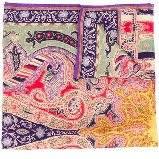 Etro Paisley Knit Long Scarf
