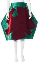 Comme des Garcons Velvet Structured Skirt