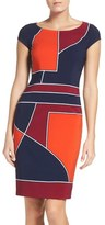 Laundry by Shelli Segal Geometric Sheath Dress