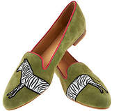 C. Wonder Zebra Embroidered Suede Loafers- Cara