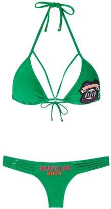 AMIR SLAMA Patch Triangle Bikini Set