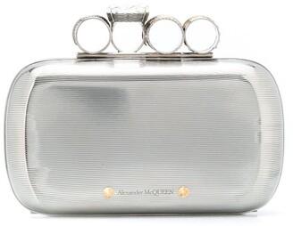 Alexander McQueen Rings metallic clutch bag