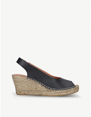 Carvela Comfort Sharon leather slingback wedge sandals