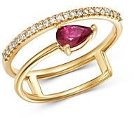 Bloomingdale's Ruby & Diamond Ring in 14K Yellow Gold - 100% Exclusive
