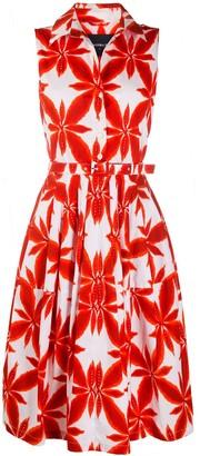 Samantha Sung Claire floral print shirt dress