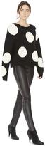 Alice + Olivia Gleeson Polka Dot Boxy Long Sleeve Pullover