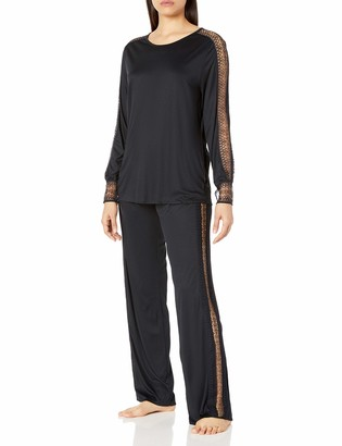 Hanro Women's Amanda Long Sleeve Pajama Set