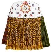Chopova Lowena - Western-belt Pleated Tapestry Wool Mini Skirt - Womens - Multi