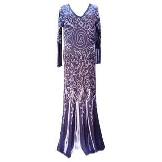 John Galliano Purple Cotton Dress for Women Vintage