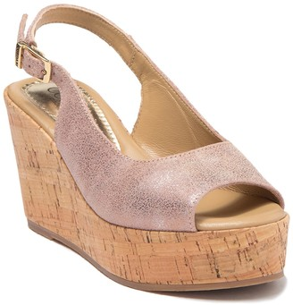 Cordani Janey Cork Wedge Platform Sandal