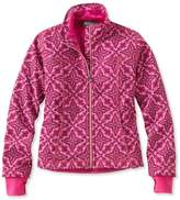 L.L. Bean Girls' Wonderfleece Soft-Shell Jacket, Print