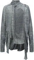 Masnada draped neck asymmetric cardigan - men - Linen/Flax/Viscose - S