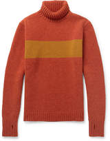 Oliver Spencer - Talbot Slim-fit Striped Wool Rollneck Sweater