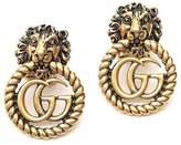 Gucci Lion Head GG Earrings