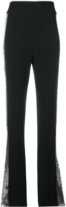 David Koma contrast sequin side trousers