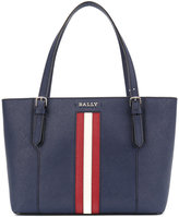 Bally Saffiano shopping bag - women - Cotton/Leather - One Size