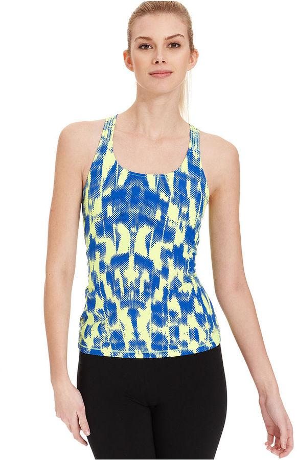 Calvin Klein Top, Sleeveless Basketweave Pixel-Print Tank